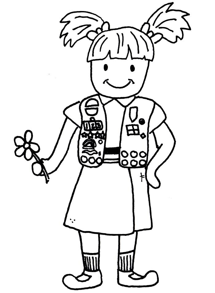 Brownie Elf Coloring Page http://www.scraphappypapercrafter.com/2012/03/free-digis-for-tuesday-girl-scout.html