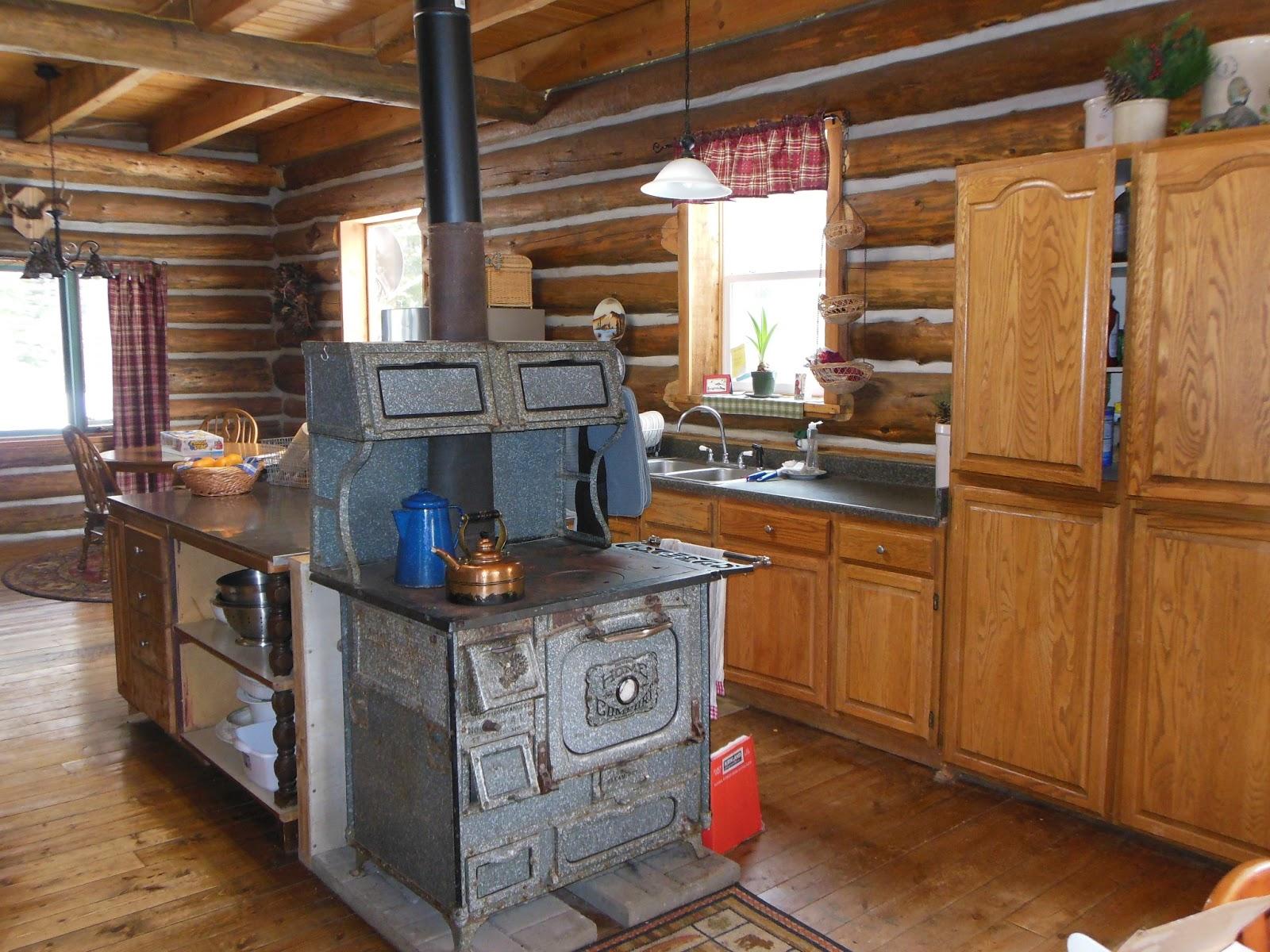 Life at Providence Lodge Log Home Tour part 2 Kitchen