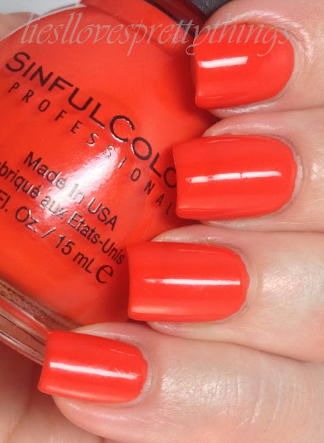 Sinful Colors Citrine swatch and review