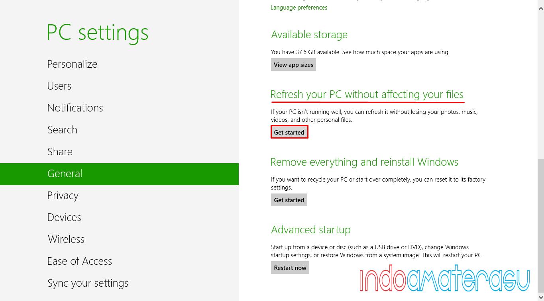 Cara Mengembalikan Menu Start Screen dan Data Yang Hilang Pada Dekstop Windows 8/ 8.1 3