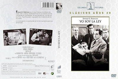 Yo soy la ley | 1938 | I Am the Law | Caratula / Cover Dvd