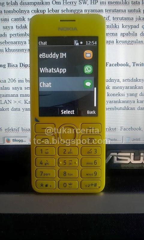 Social Media Nokia 206