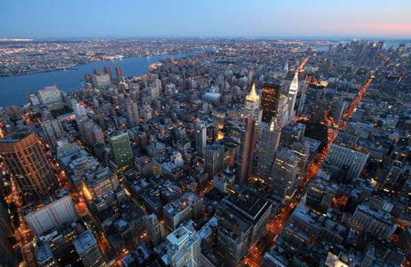 Johncristiani new york manhattan con le torri gemelle for New york dall alto