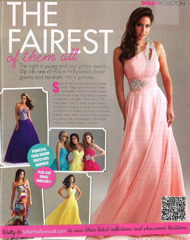 Hills In Hollywood Chermside Dolly Magazine Formal Dress Special
