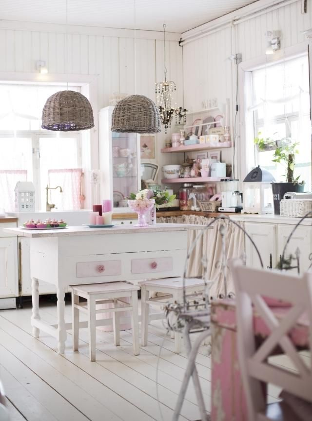 Coastal style beach cottage pink for Interior design 06877