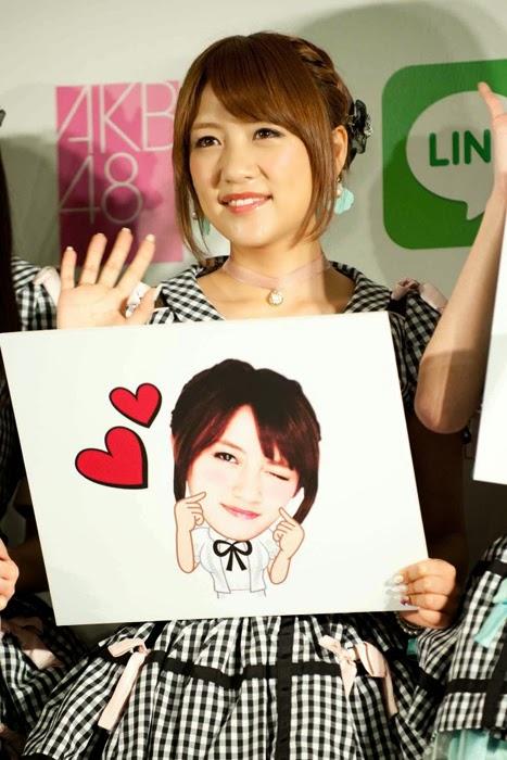 Las primeras 16 integrantes de la elección Senbatsu de AKB48 tendrán sus stickers en LINE 04