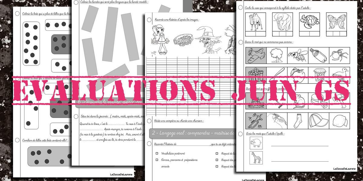 evaluations juin grande section - Maternelle Grande Section