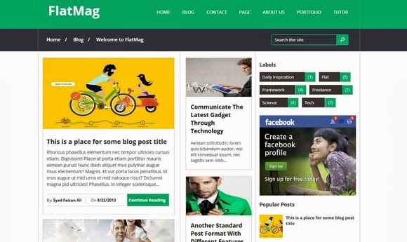 Flat Mag – Free Blogger Template