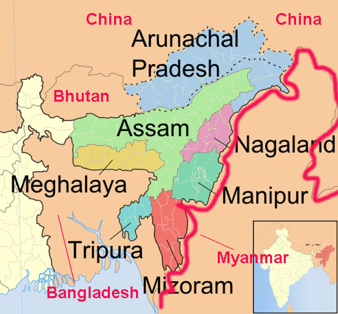 International boundaries of India, state boundaries of India with other countries, India china border states, boundary of India and Pakistan, India Pakistan border states, India Bangladesh border states, India Myanmar border states, India Afghanistan border states.