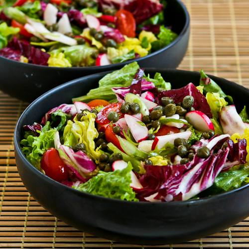 Ottolenghi's Perfect Lettuce Salad with Radicchio, Radishes, Tomatoes, and Capers