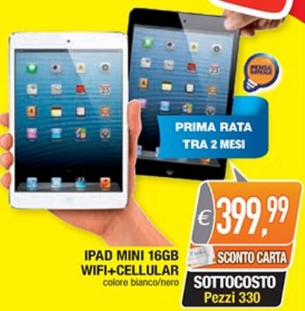 Ottimo prezzo, con uno sconto reale del 10%, nell'ultimo volantino sottocosto Oasi sull tablet Apple iPad Mini Cellular