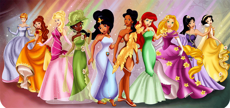 Disney princess fashion to print