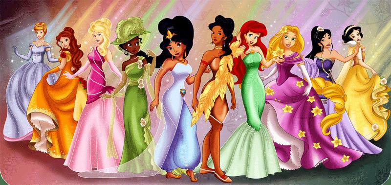 Princesas disney modernas para imprimir