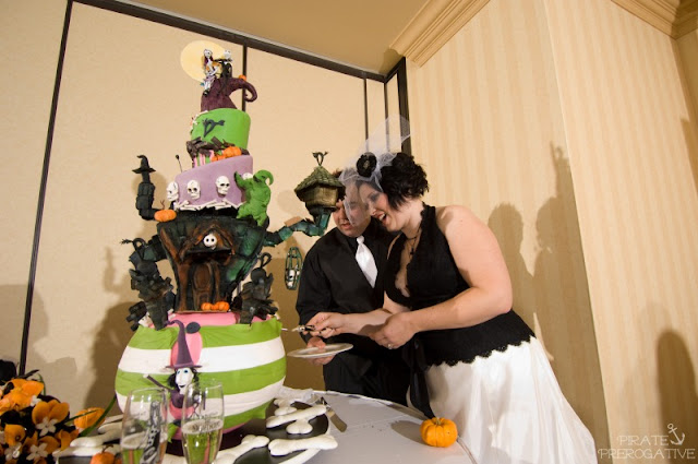 Nightmare Before Christmas Wedding Cake by Christopher Garren