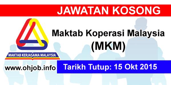Jawatan Kerja Kosong Maktab Koperasi Malaysia (MKM) logo www.ohjob.info oktober 2015