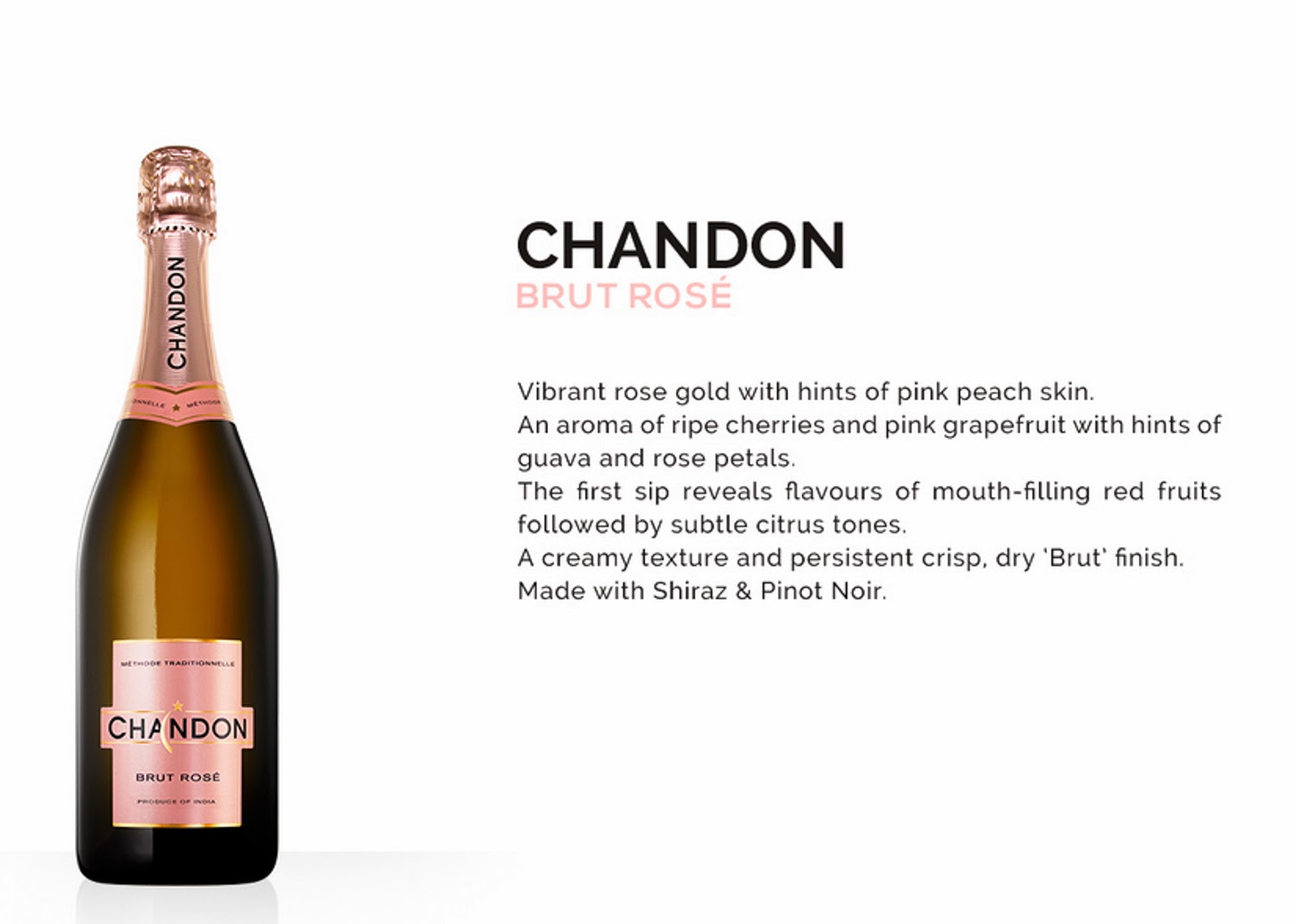 Chandon Brut Rose Produce of India