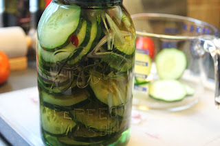 Homemade quick pickles