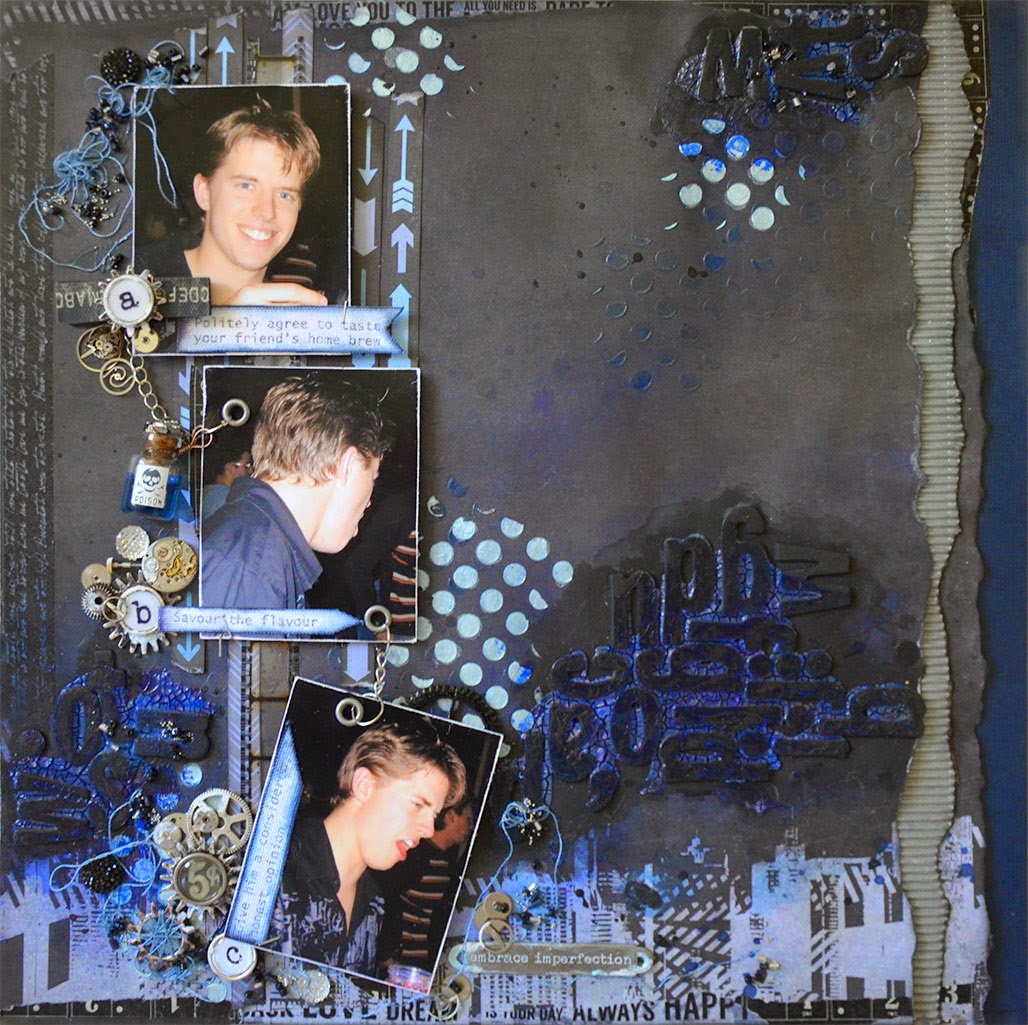 Scrapbooking Boys layouts