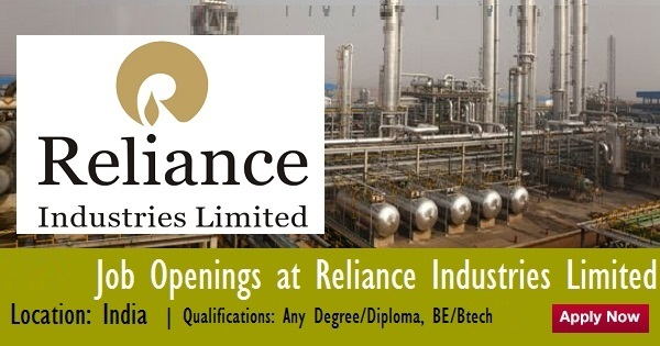 how to get job in reliance industries