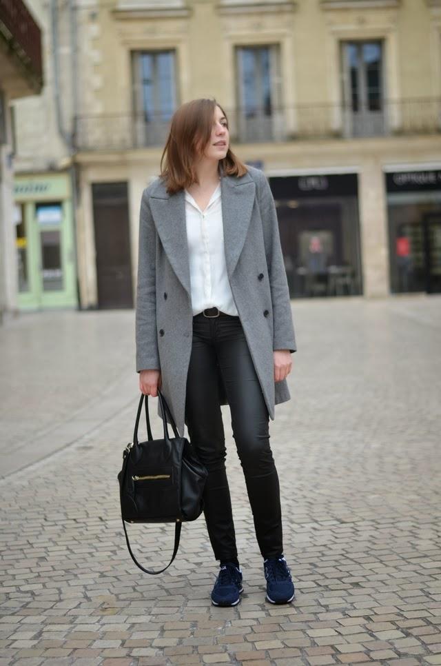 new balance marine chemise blanche slim simili cuir