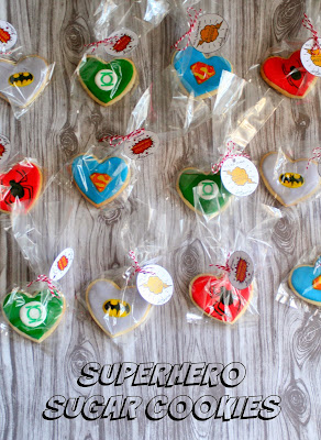 Superhero Sugar Cookies with free printables | jordansonion.com #superman #spiderman #batman #greenlatern