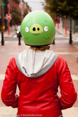 Helmet 'Green Pigs'