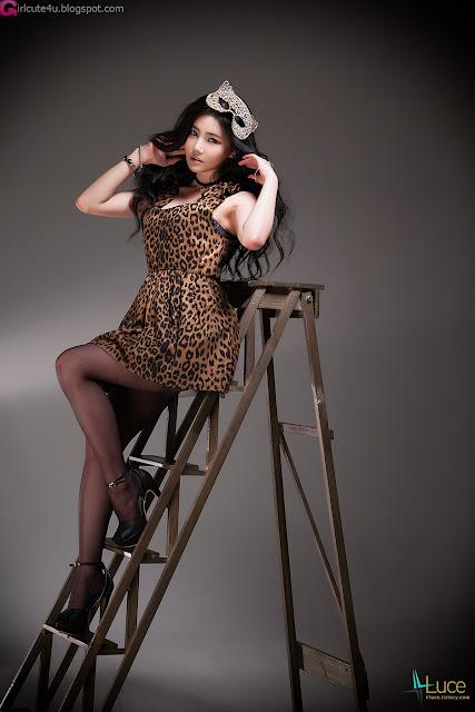 6 Han Ga Eun - Leopard Girl -Very cute asian girl - girlcute4u.blogspot.com