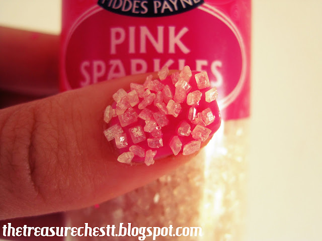 sugar pink sprinkle nails nail art