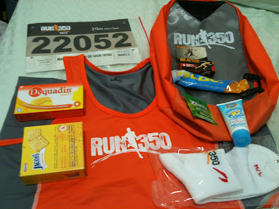 Run 350 2012 Race Pack