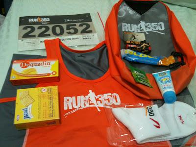 Run 350 2012 Race Pack