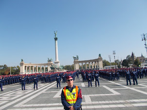 """""""Hungarian Police Induction Ceremony"""" at Heros' Square in Budapest."""
