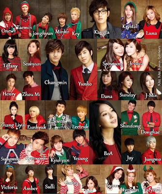 SMTown SM Town Christmas Winter album The Warmest Gift members names