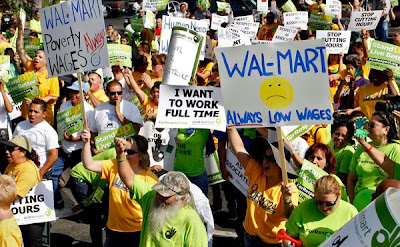 Walmart real motto - Always LOW wages and no benefits.