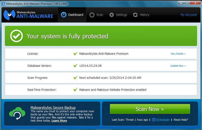 Malware bytes Anti-Malware full version feature