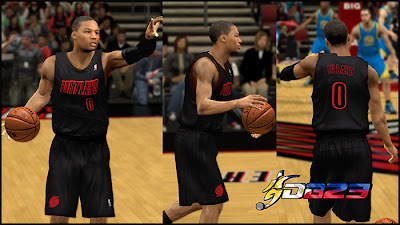 NBA 2K13 Portland Trail Blazers Big Color Jersey Mod