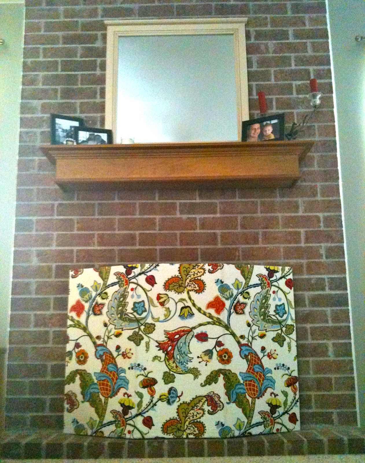 screen my decorative in sew you no practically fireplace for save diy made
