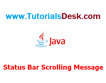 Scrolling message on the status bar using Javascript