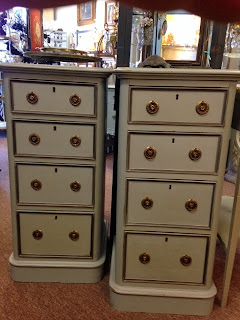 Late 1800's painted 4 drawer stands at The Pickled Hutch