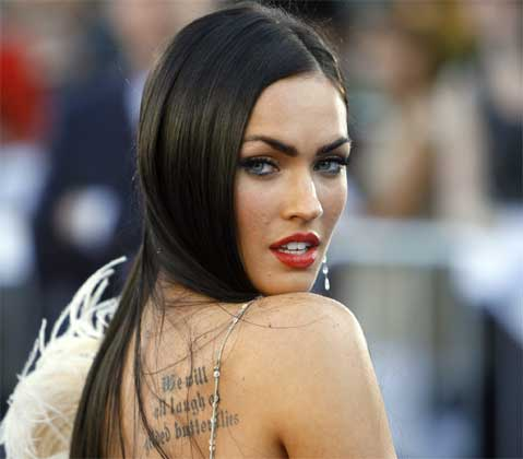 Megan Fox Tattoos 2012