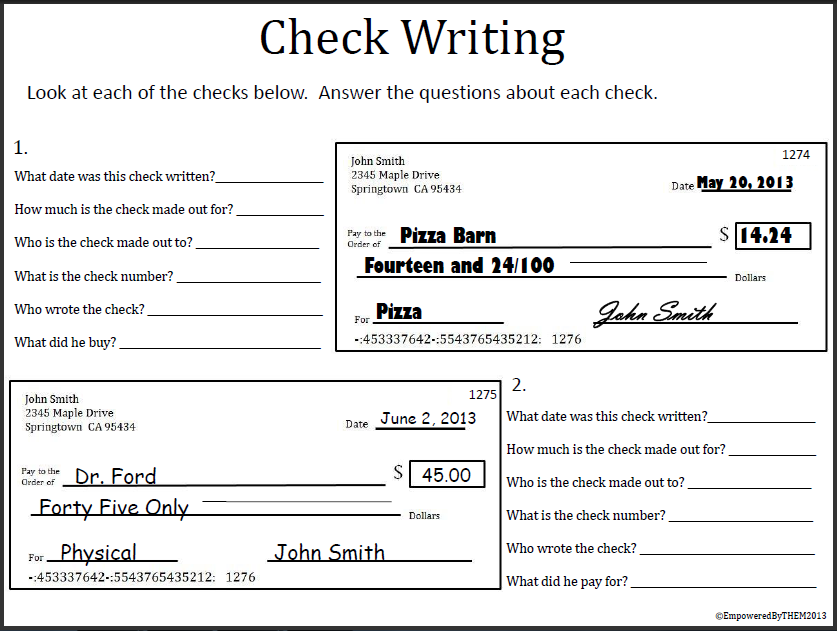 Worksheets Blank Checks Worksheet blank checks worksheet vintagegrn