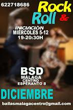 ROCK&ROLL INTENSIVO INICIACIÓN LOS MIÉRCOLES 5 Y 12 DICIEMBRE  EN BSD MÁLAGA CENTRO.
