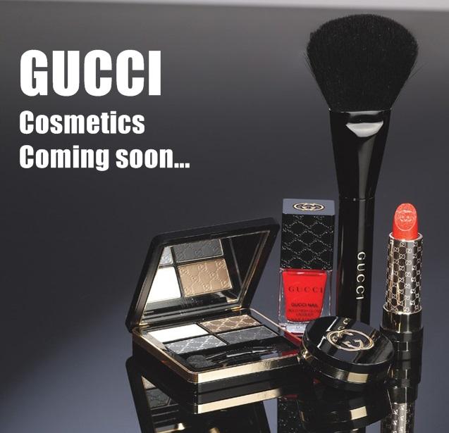 GUCCI Cosmetics Coming Soon...