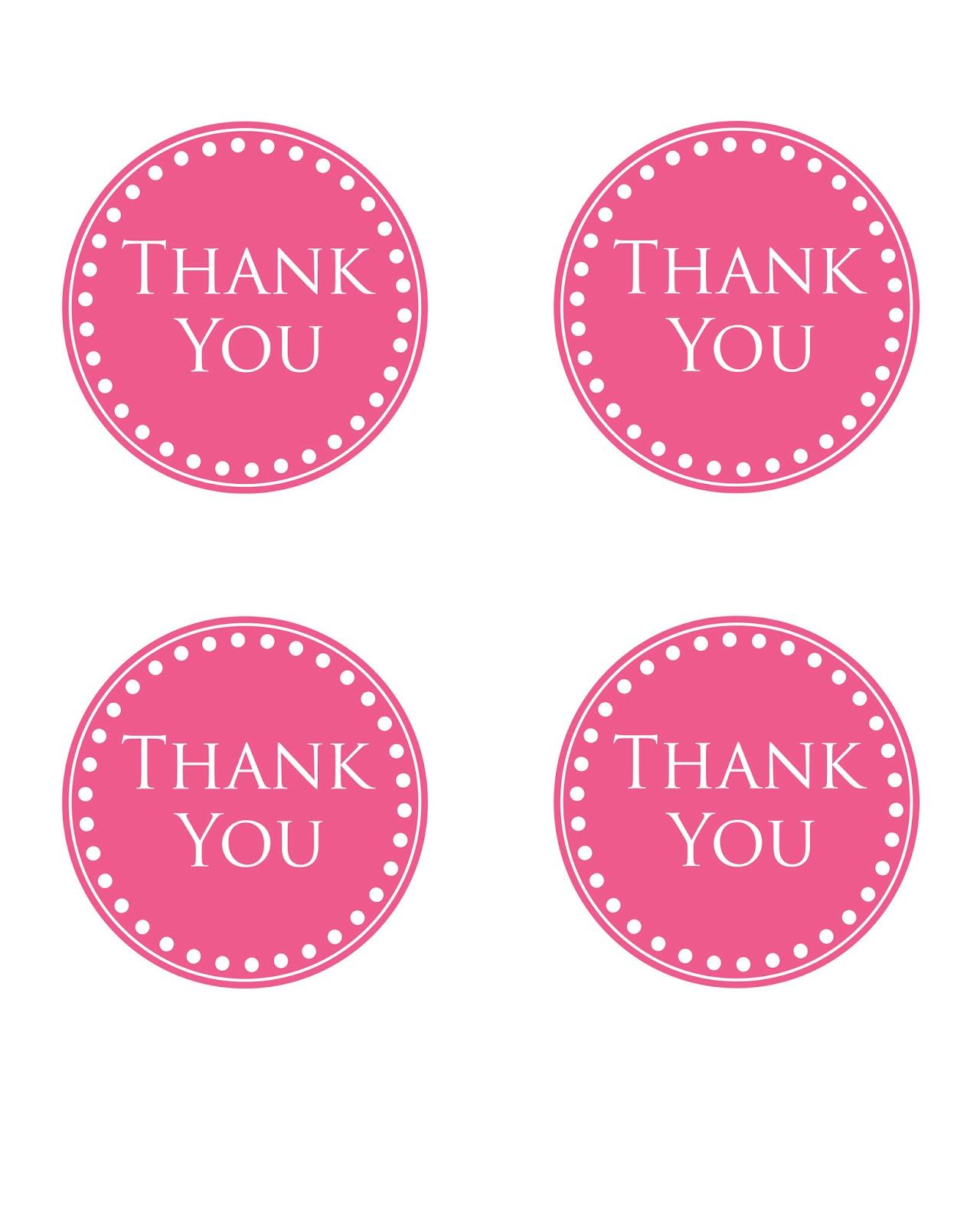 It is a photo of Candid Thank You Tags Printable