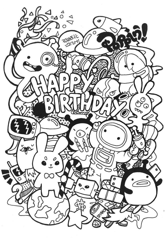 birthday doodle by poppincustomart d5gjqbg