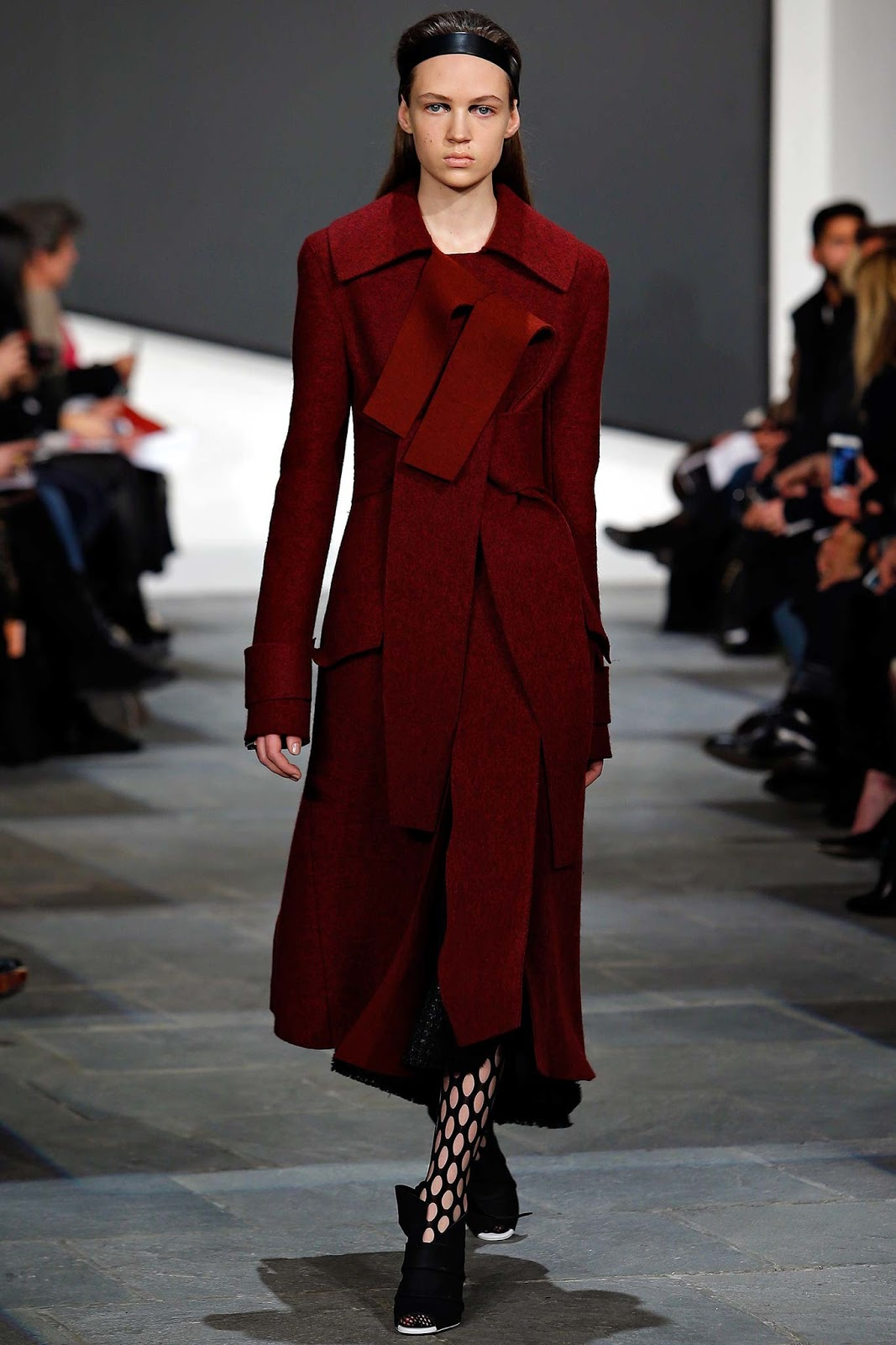 Trench coats as seen on a runway at Proenza Schouler Autumn/Winter 2015 via www.fashionedbylove.co.uk