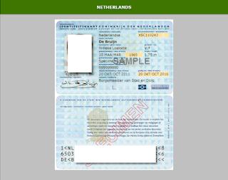 Contoh ID card negara Netherland