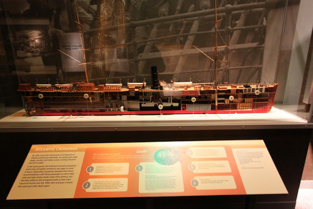 Atlantic crossing ship model at National Museum of American History in Washington DC, USA