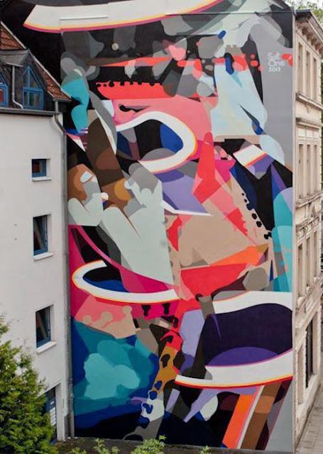 Street Art By SatOne In Cologne, Germany For CityLeaks Urban Art Festival. 2