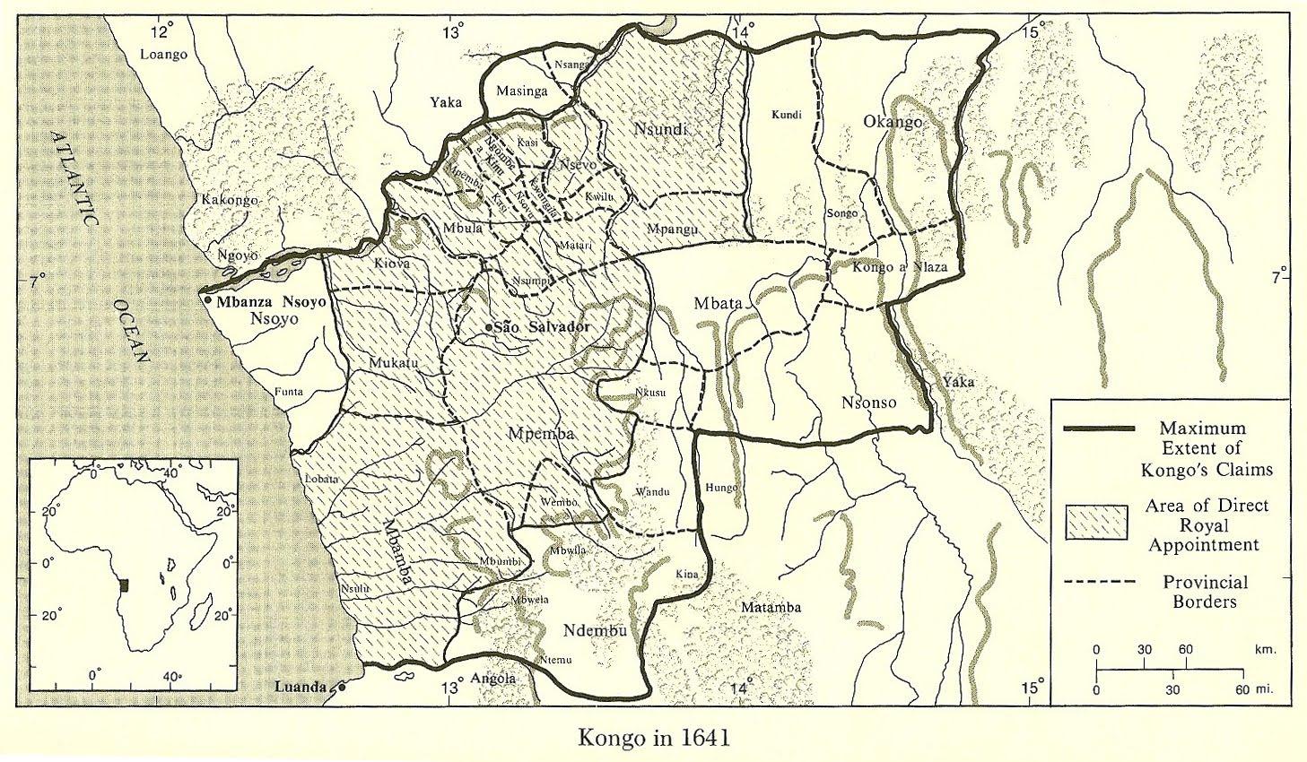 MAPA DO KONGO 1641