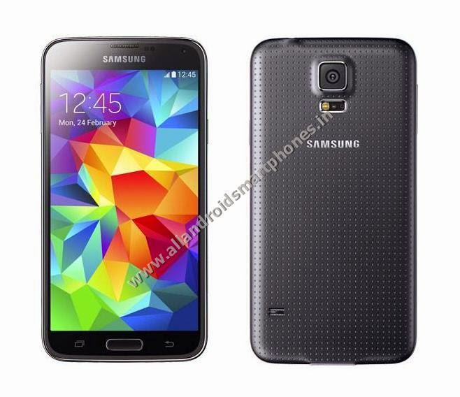 Samsung Galaxy S5 SM-G900I Android Kitkat 4G Phablet Front Back Black Color Images Photos Preview